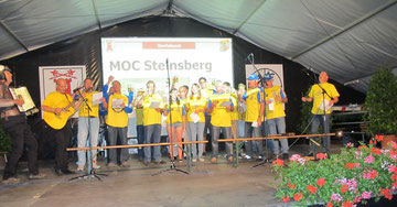 MOC singt beim 75, jähr. FFW- Jubi