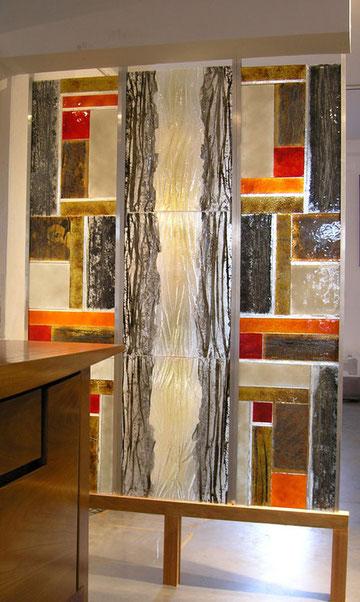 vitrail verre émaillé