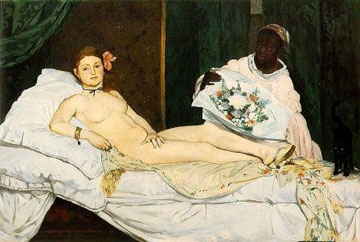 Edouard Manet - Olympia, 1863, ausgestellt 1865 / Quelle: Wikimedia Commons