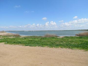 Salt lake at Kalamita Bay