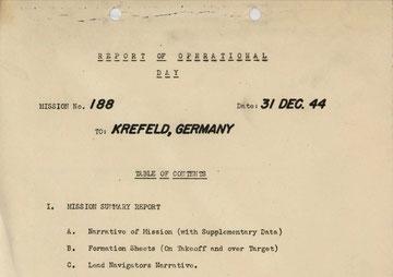 Deckblatt des Mission Report 188.