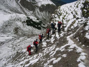 Aufstieg zum Mindelheimer Klettersteig
