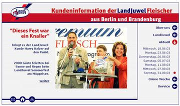 """""""Dieses Fest war ein Knaller"""". Online-Zeitung Kundeninformation der Landjuwel-Fleischer Berlin und Brandenburg. Foto: Helga Karl"""