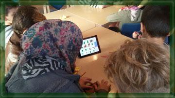 Foto: Tablet-Einsatz im Wochenprogramm des Spunk