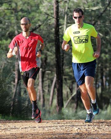 Lukas Gärtner und Philipp Meixner beim gemeinsamen Training