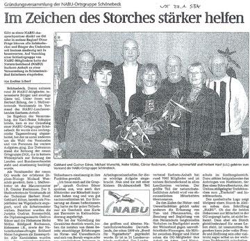 Volksstimme Schönebeck vom 22.01.2008 zur Gründungsveranstaltung