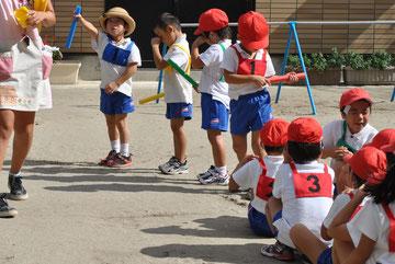 親子リレーの練習も始まりました。