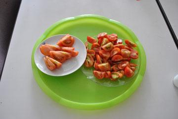 お店では手に入らない、完熟で、もいだトマト。