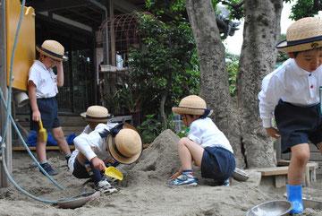 穴を掘るのに夢中になる子も、