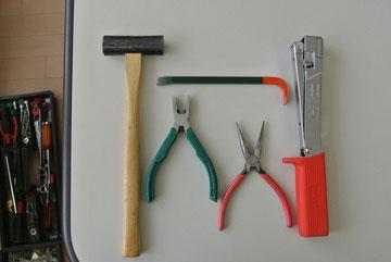 主に活躍した工具たち