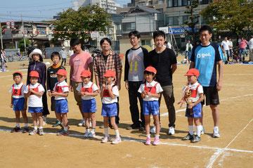 親子リレーの優勝チームです。