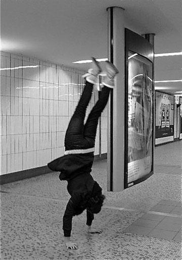 Carolin im Hamburger Hauptbahnhof