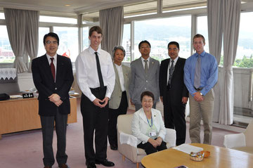 Courtesy Call of Takarazuka City Mayer, Ms. Nakagawa