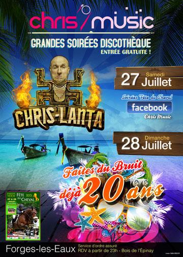 Soirée Fête du Cheval à Forges-les-Eaux avec Chris' Music