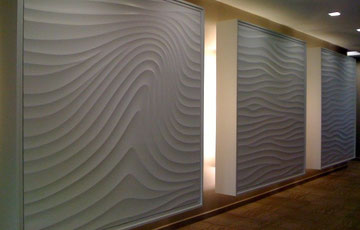 パターンを付けた漆喰の壁(USA)