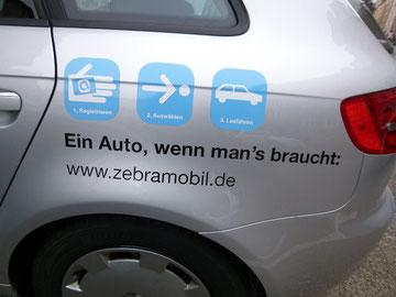 Zebra Mobil Car Shering