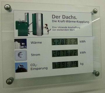 Bhkw Blockheizkraftwerk Info Tafel