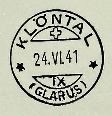 Datumstempel mit neuer Schreibweise nach der Wiederöffnung im Jahre 1941.