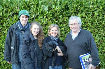 Christopher, Ronja, Barbara und Andreas mit Eddi