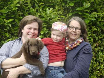 Hildegard, Petra, Hannah und Jonte