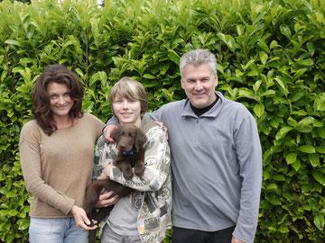 Tanja, Volker, Marvin mit Finn