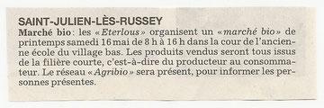 1. L'Est Républicain 02/05/09