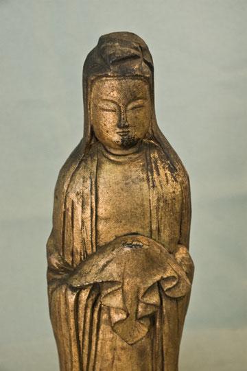 南無大慈大悲観世音菩薩観世音菩薩像    野沢家  蔵 (高さ37.5㎝)