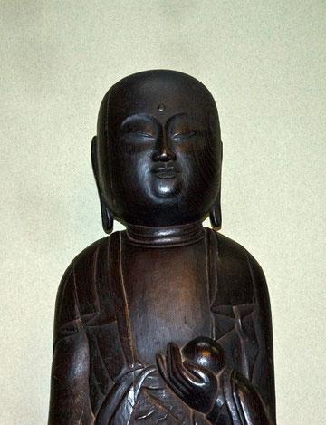 地蔵菩薩像 (高さ 1・47m) 湊町 十王院 八戸市文化財指定