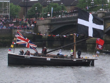 Barnabas on the River Thames as part of the Diamond Jubilee pageant. http://www.geograph.org.uk/photo/2979211  This photograph is copyrighted but also licensed for further reuse.  © Copyright David Hawgood http://www.geograph.org.uk/profile/560 Licensed f