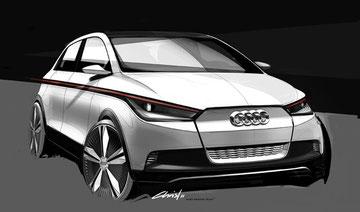 Elektroauto Audi A2 concept auf der IAA 2011 zu sehen