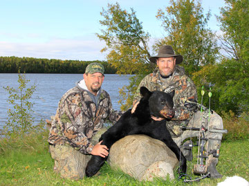Bruce and Jeff - A successful fall archery Ontario black bear hunt!