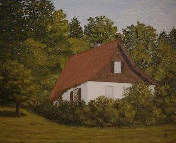 Häuschen im Schwarzwald (Öl auf Leinwand, 24 x 30 cm, reserviert)
