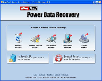 MiniTool Power Data Recovery Free Edition