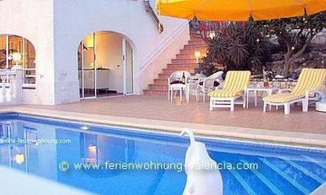 Ferienwohnung Valencia, Villa Gandia Hills, Terrasse der Ferienwohnung, www.ferienwohnung-valencia.com
