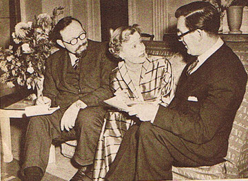 "Irene is ""In Town Tonight"", so the scriptwriter, Kenneth Myer, and the producer, Peter Duncan, of the BBC feature, visit Irene at her hotel to brief her for a broadcast."