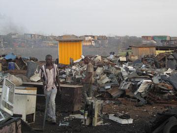 Elektromülldeponie in Ghana