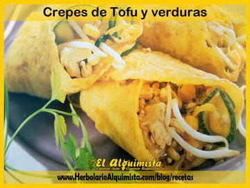 Crepes de Tofu con Verduras - Blog del Alquimista Arrecife Lanzarote