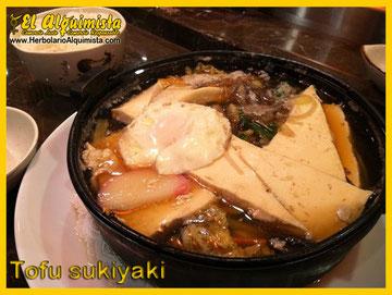 Sukiyaki de Tofu - Cocina Japonesa - Herbolario el Alquimista