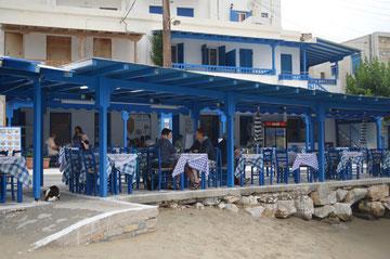 Taverne am Strand von Apollonas