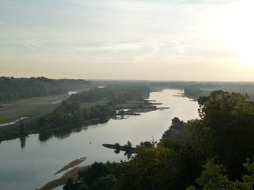 Blick ostwärts ins Loiretal in der Nähe von Nantes