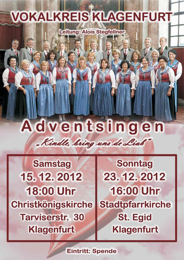Flyer Adventsingen 2012