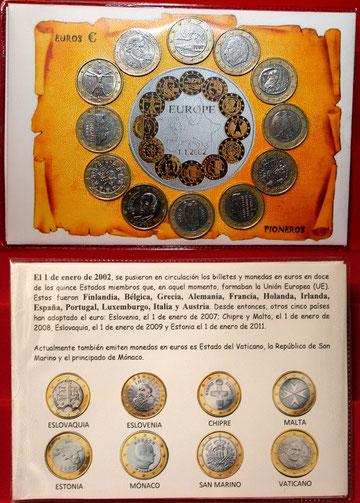 los primeros países el euro