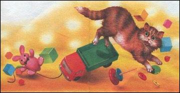 Кот кататься не привык - опрокинул грузовик