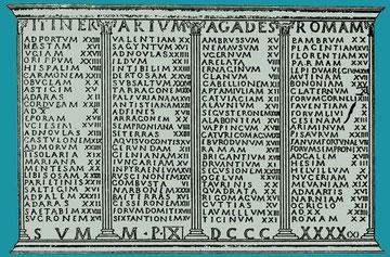 Abb. 3: Auszug aus dem Itinerarium Antonini
