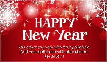 あなたは、その年に、御恵みの冠をかぶらせ、あなたの通られた 跡にはあぶらがしたたっています。        詩篇65:11