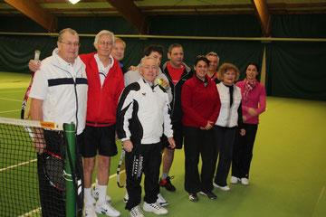 Les joueurs dans la halle de Dannstadt-Schauernheim.
