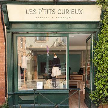 Cette image représente la facade de la boutique Les Ptits Curieux à Toulouse