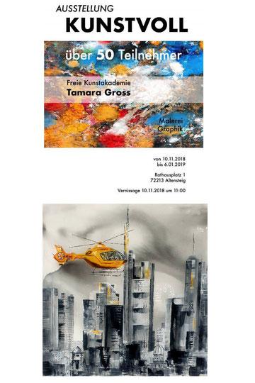 Tamara Gross Kunstakademie Ausstellung Rathaus Altensteig Christiane Ros