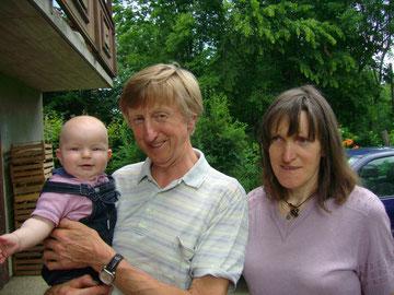 Franz, Maria und Enkel Elias