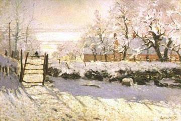 CLAUDE MONET - Paesaggio invernale